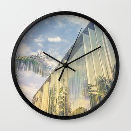 Beverly Hills - Palm Reflections Wall Clock