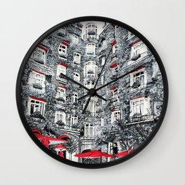 Woman in Paris Wall Clock