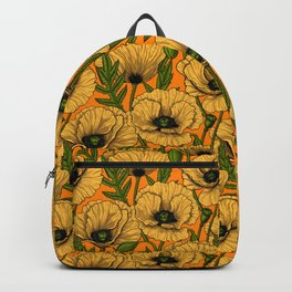 Yellow poppies  Backpack