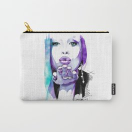 I give you a blown kiss Carry-All Pouch