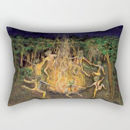 DANCING NAKED IN THE FOREST Rectangular Pillow