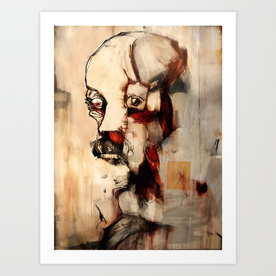 Portrait of a Distracted Man Art Print