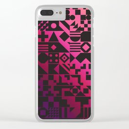 Digital Inkblot Clear iPhone Case