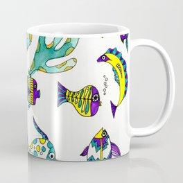 Tropical Fish Watercolor and Ink Illustration Coffee Mug