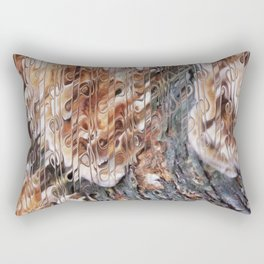 Mushroom on Tree Bark Rectangular Pillow