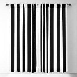 Large Black and White Cabana Stripe Blackout Curtain