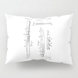 patent art Baer Knife Blade 1956 Pillow Sham