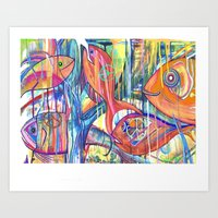 5 Goldfish 4 Peace Art Print