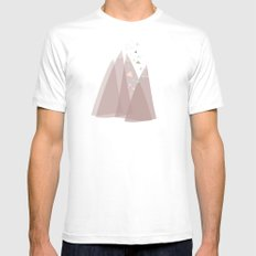 Party In The Mountains//One White Mens Fitted Tee MEDIUM