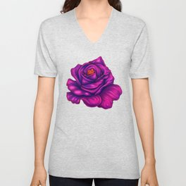 Purple Rose Unisex V-Neck