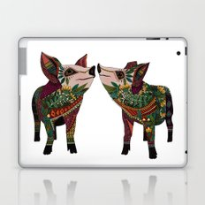 pig love white Laptop & iPad Skin