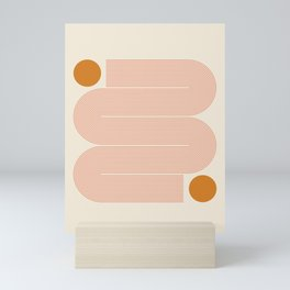 Abstraction_SUN_LINE_ART_Minimalism_002 Mini Art Print