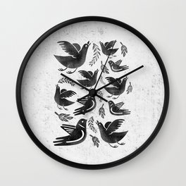 Fly and Fight Wall Clock