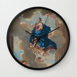 """Fine Art,""""The Assumption of the Virgin"""",Masterpiece,on,HOME DECOR,Wall Art,iPhone cases,iPhone sleev Wall Clock"""