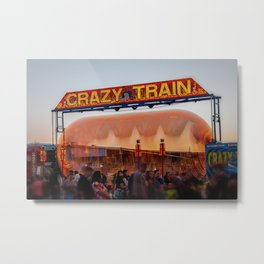 All Aboard the Crazy Train carnival ride Metal Print