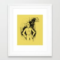 c3po Framed Art Prints featuring C3PO by Samantha Chiusolo