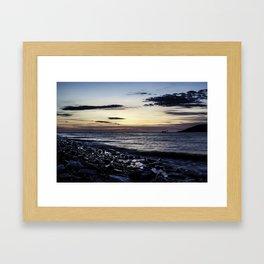 Obsidian Tide Framed Art Print