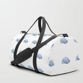 box turtle drawing, blue Duffle Bag