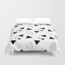 Modern Black Triangles Duvet Cover