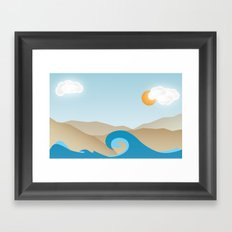 Beach Paradox Framed Art Print