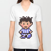 earthbound V-neck T-shirts featuring Ness (Pajamas) - Earthbound / Mother 2 by Studio Momo╰༼ ಠ益ಠ ༽