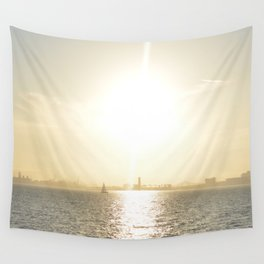 Let's Sail From this City Wall Tapestry