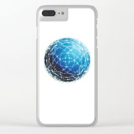 The Blue Orb Clear iPhone Case