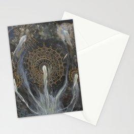 mycelium mandala Stationery Cards