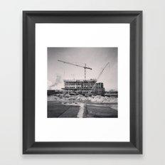 Winter Construction Framed Art Print