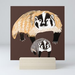 American badger Mini Art Print