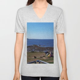 Sea View from the Watchtower Unisex V-Neck
