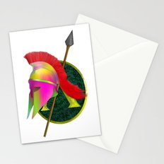 Spartan Helmet Colorful Stationery Cards