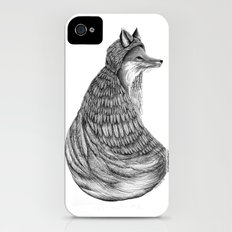 Fox- Feathered. iPhone (4, 4s) Slim Case
