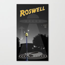 Aliens Over Roswell Canvas Print