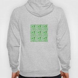 Green Poppies on blue Hoody