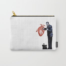 Banksy - Docter checking a heart for valentine Carry-All Pouch