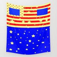 america Wall Tapestries featuring Mr. America  by Latidra Washington