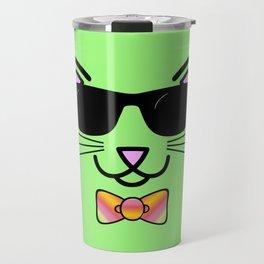 Cool Cat Wearing Bow Tie Travel Mug