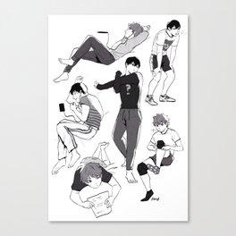 Kags and Hina  Canvas Print
