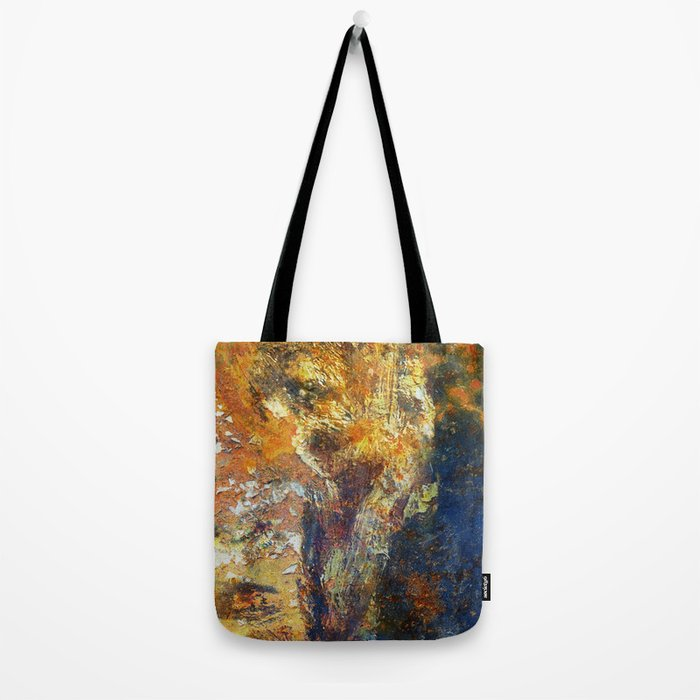 Yellow and Blue Wall Tote Bag