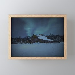 Winter finds out what summer lays up. Framed Mini Art Print
