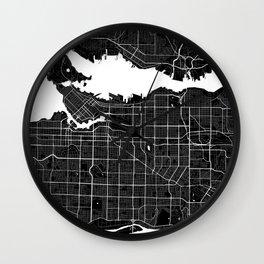 Vancouver - Minimalist City Map Wall Clock