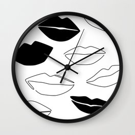 Dark Kisses Wall Clock