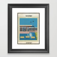 Hockney+neutra Framed Art Print