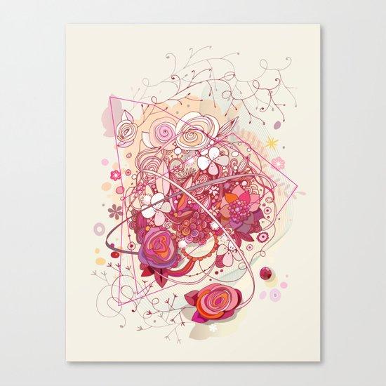 Floral universe orbit Canvas Print