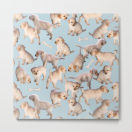 Too Many Puppies Metal Print