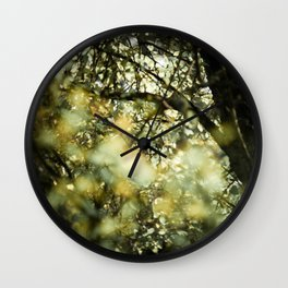 Bokah tree Wall Clock