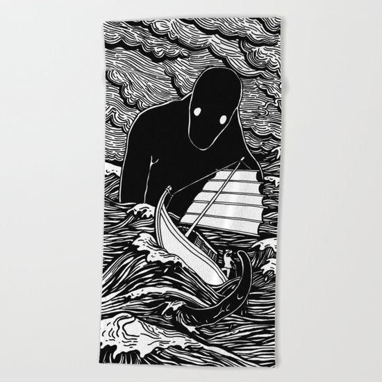 Umibōzu 海坊主 Beach Towel