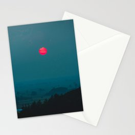 Pink Sunrise Stationery Cards