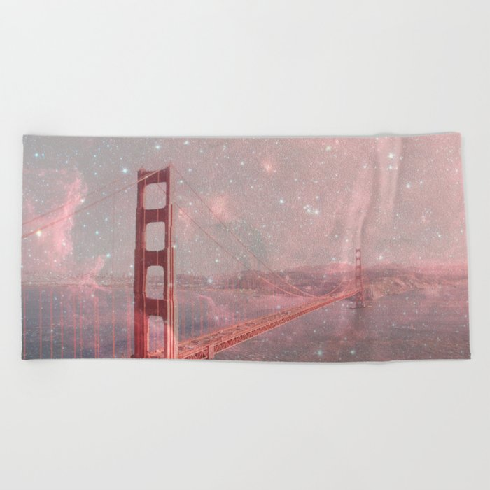 Stardust Covering San Francisco Beach Towel